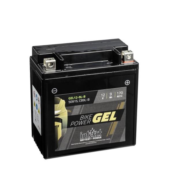 intAct Bike-Power Motorradbatterie GEL 12V 9Ah 12-9L-B 50915
