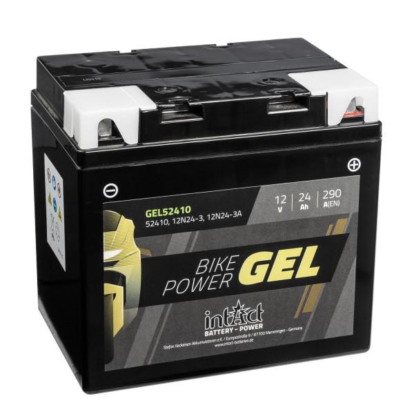 intAct Bike-Power Motorradbatterie GEL 12V 24Ah 12N24-3 52410