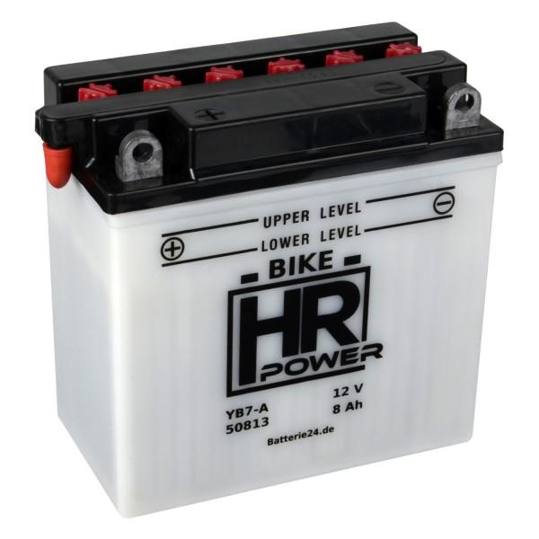 HR Bike Power Motorradbatterie YB7-A 50813 12V 8Ah trocken