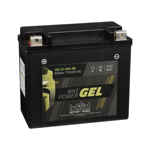intAct Bike-Power Motorradbatterie GEL 12-20H-BS 82004