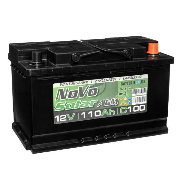 Novo Solar AGM 12V 110Ah Versorgerbatterie