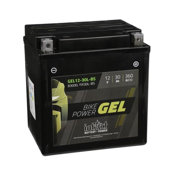 intAct Bike-Power Motorradbatterie GEL 12-30L-BS 83000
