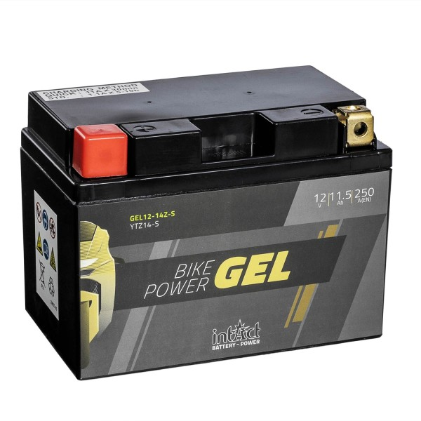 intAct Bike-Power Motorradbatterie GEL YTZ14-S 12V 11,5Ah Gel12-14ZS