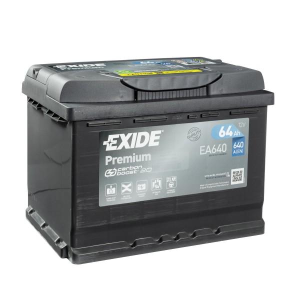 Exide Premium CARBON BOOST 2.0 EA640 Autobatterie 12V 64Ah