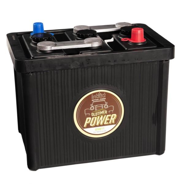 intAct Oldtimer-Power 09811 Autobatterie 6V 98Ah trocken