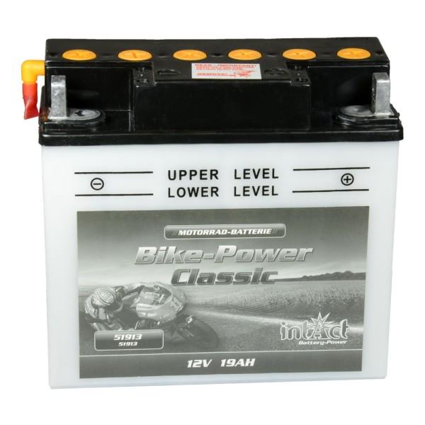 intAct Bike-Power Motorradbatterie Classic 51913 12V 19Ah trocken