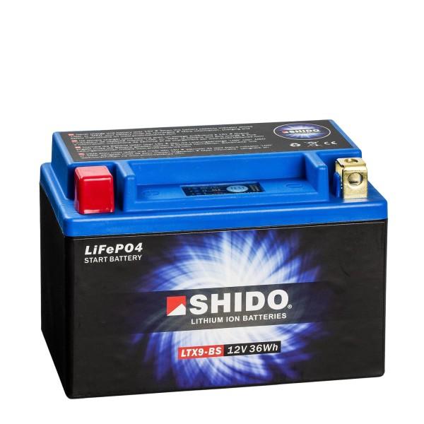 Shido Lithium Motorradbatterie LiFePO4 LTX9-BS 12V