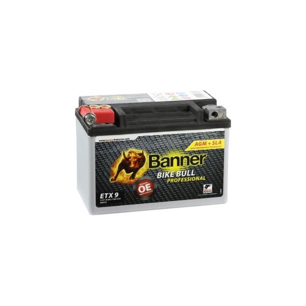 Banner AGM PRO Motorradbatterie 50901 ETX9 12V 8Ah