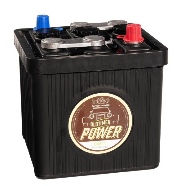 intAct Oldtimer-Power 06611 Autobatterie 6V 66Ah trocken