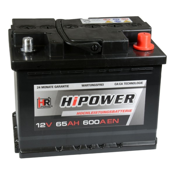 HR HiPower Autobatterie 12V 65Ah