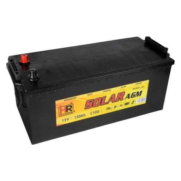HR Solar AGM 12V 150Ah Versorgungsbatterie