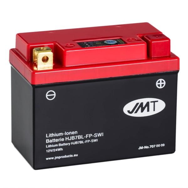 JMT Lithium-Ionen-Motorrad-Batterie HJB7BL-FP 12V