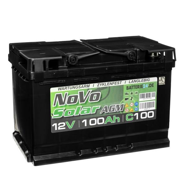 Novo Solar AGM 12V 100Ah Versorgerbatterie