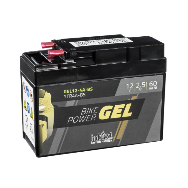 intAct Bike-Power Motorradbatterie GEL YTR4A-BS 12V 2,5Ah Gel12-4A-BS