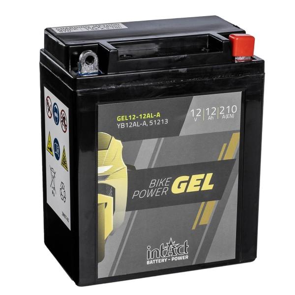 intAct Bike-Power Motorradbatterie GEL YB12AL-A 12V 12Ah 51213 Gel12-12AL-A