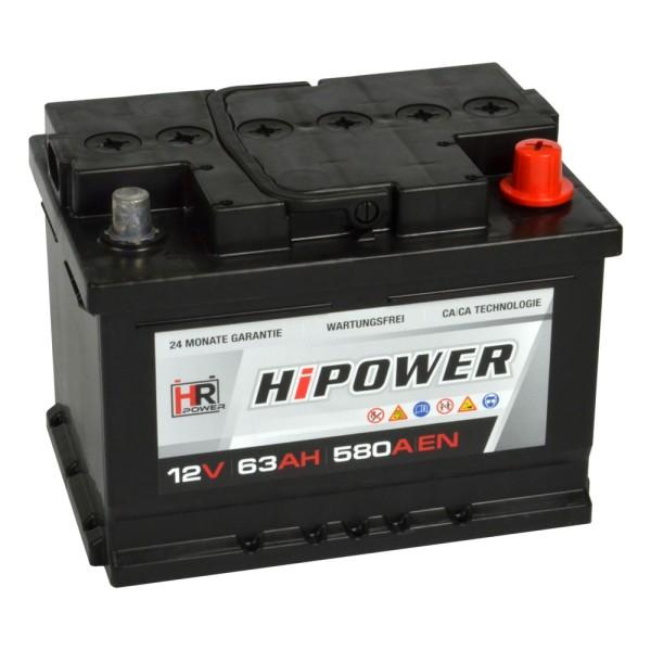 HR HiPower Autobatterie 12V 63Ah
