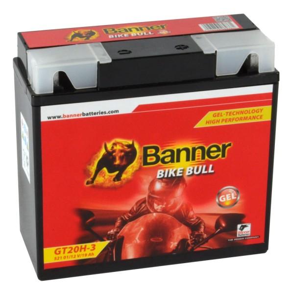 Banner Bike Bull Motorradbatterie GEL 51913 52101 12V 19Ah BMW mit ABS