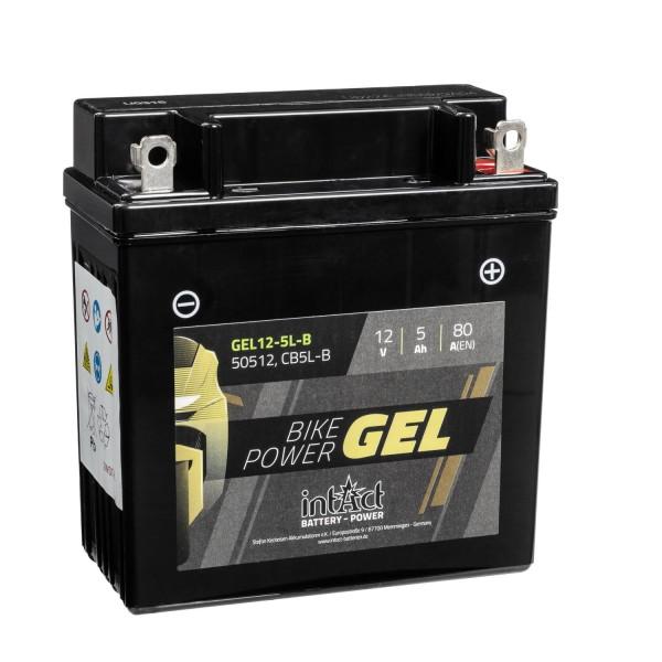 intAct Bike-Power Motorradbatterie GEL 12V 5Ah 12-5L-B 50512