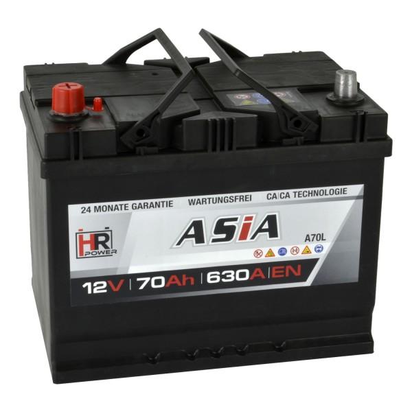 HR HiPower ASIA Autobatterie A70L 12V 70Ah