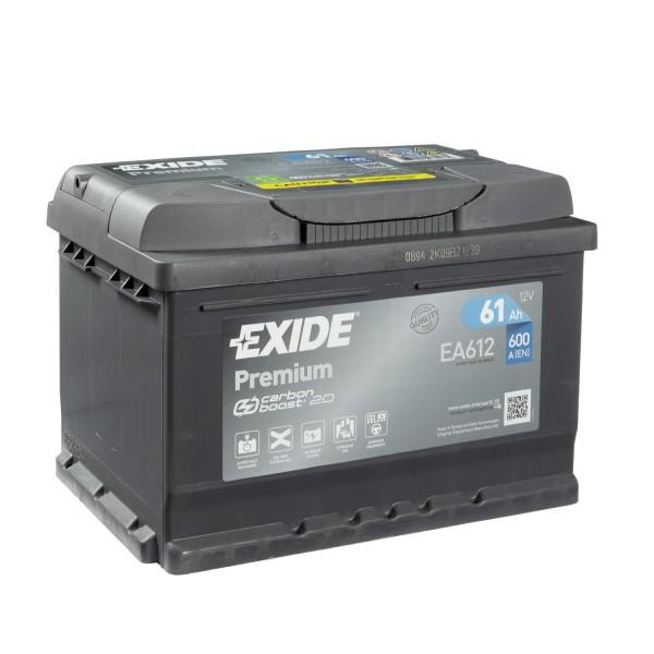 Exide Premium CARBON BOOST 2.0 EA612 Autobatterie 12V 61Ah