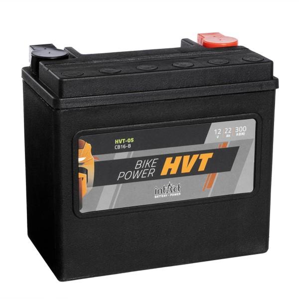 intAct Bike-Power Motorradbatterie HVT YB16-B 12V 19Ah HVT-05
