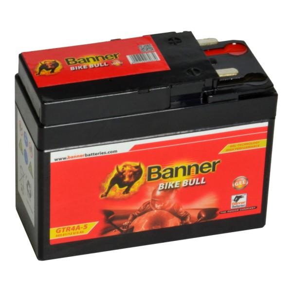 Banner Bike Bull Motorradbatterie GEL YTZ4A-BS GTR4A-5 12V 3Ah 50301