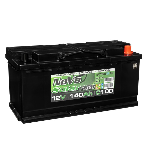 Novo Solar AGM 12V 140Ah Versorgerbatterie