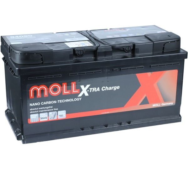 MOLL X-TRA Charge 12V 90Ah 84090 Autobatterie Starterbatterie
