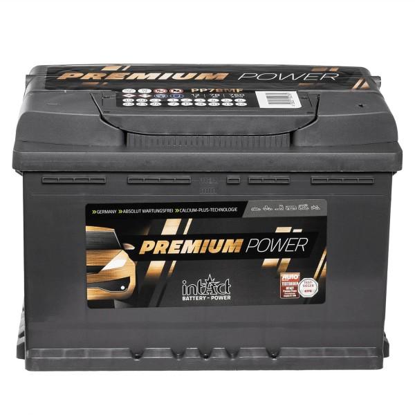 intAct Premium Power PP78MF Autobatterie 12V 78Ah
