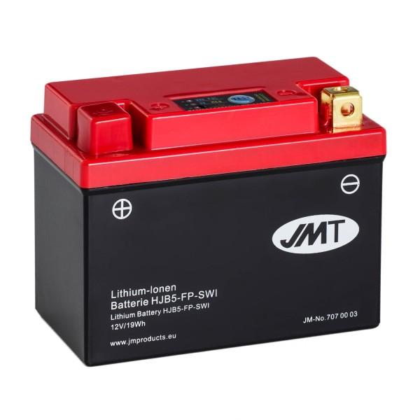 JMT Lithium-Ionen-Motorrad-Batterie HJB5-FP 12V