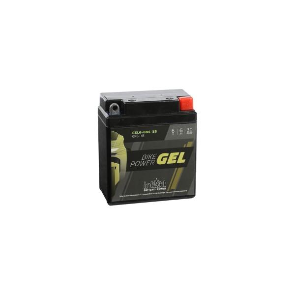 intAct Bike-Power Motorradbatterie GEL 6N6-3B 12V 6Ah 00611