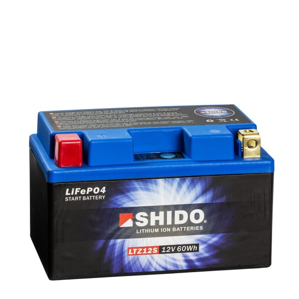 Shido Lithium Motorradbatterie LiFePO4 LTZ12S 12V