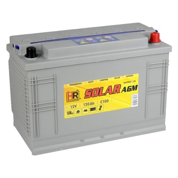 HR Solar AGM 12V 120Ah Versorgungsbatterie