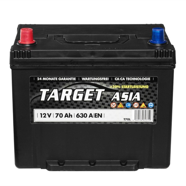 Target ASIA Autobatterie T70L 12V 70Ah Starterbatterie