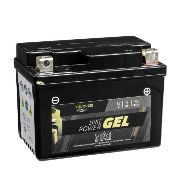 intAct Bike-Power Motorradbatterie GEL YTZ5-S 12V 4Ah Gel12-5Z-S