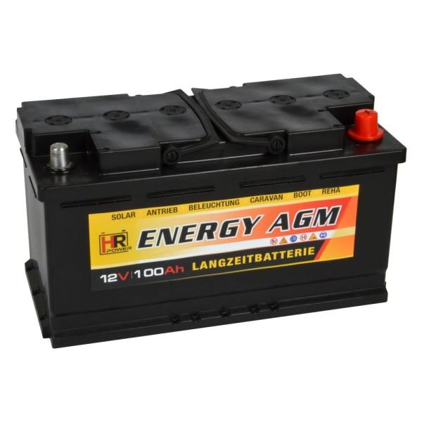 HR-ENERGY AGM Batterie 12V 100Ah