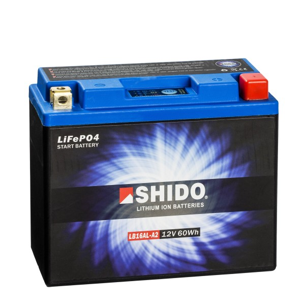 Shido Lithium Motorradbatterie LiFePO4 LB16AL-A2 12V