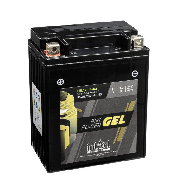 intAct Bike-Power Motorradbatterie GEL 12V 14Ah 12-14-A2 81401